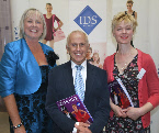 Photo of Jill Bridger with Anne Walker IDS and Wayne Sleep