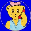 Melody Bear talking on the telephone