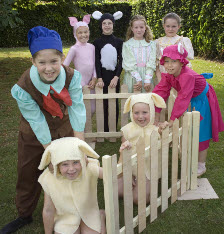 Pupils of the Jill Bridger School of Dance dancing in Babe the Sheep Pig