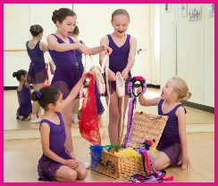 Junior Ballet students