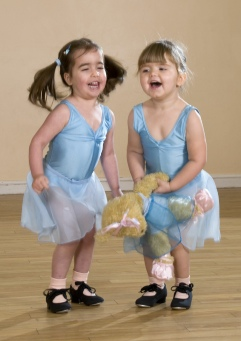 Preschool tap dancing students