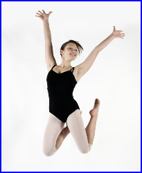 Photo of girl jumping
