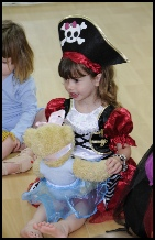 Dancer dressed as a pirate
