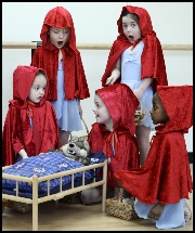 DRESSING UP AS LITTLE RED RIDING HOOD